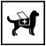 Service animal symbol