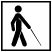 Walking person with cane symbol