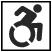 Person on wheelchair symbol